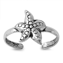 Women's Starfish Adjustable Toe Ring 14k White Gold Plated 925 Sterling ... - $9.99