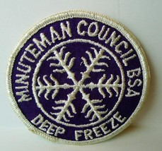 Minuteman Council BSA DEEP FREEZE Patch Boy Scouts Vintage Boston - $8.42