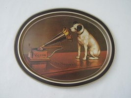 Victor Phonograph RCA Nipper Decorative Platter Tray Art His Master's Vo... - $24.74