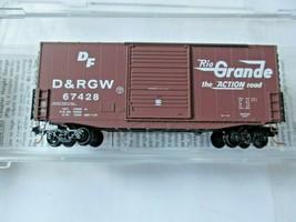 Micro-Trains # 10100031 Denver & Rio Grande Western 40' Hy-Cube Box Car N-Scale image 1