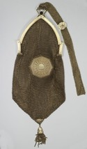 14k Yellow Gold Art Deco Style Mesh Purse with Mini Compact - $5,250.00