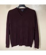 Club Room Estate Cashmere Sweater Mens Vneck Pullover Size Medium - $35.63