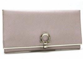 AUTHENTIC FERRAGAMO Gancini Leather Bifold Long... - $210.00