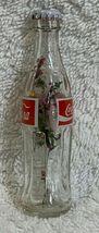 Russia Coke Coca-Cola Mini Miniature dried Purple flowers crystal glass bottle image 5