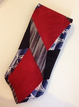 Zylos George Machado Red Gray Black Blue Neck Tie 100% Italian Silk Colo... - $29.00