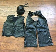 Get Real Gear Biker Motorcycle Rider Dress Up Halloween Costume Faux Lea... - $39.59