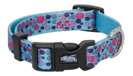 """Weaver Leather Bubble Patterned Snap-n-Go Collar, Turquoise, 5/8"""" x 9""""-13""""/Small - $16.38"""
