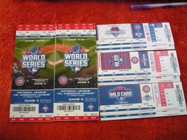 MLB Chicago Cubs Full Unused World Series & Playoff Ticket Stubs As Pictured - $11.30