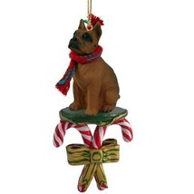 Conversation Concepts Boxer Tawny Candy Cane Ornament - $15.99