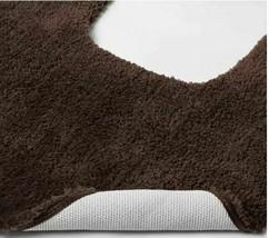 Threshold - Performance Nylon Contour Dark Brown Bath Rug image 2
