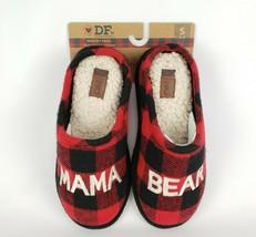 Dearfoams Mama Bear Red Plaid Clog Slipper Memory Foam 2020 Ed. Sz 5/6 New - $23.27