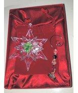 Waterford Crystal Snowstar Ornament 2005 135035 Original Box with Enhancer  - $64.99