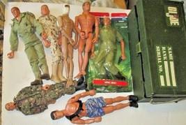 Big lot of 7 Hasbro GI JOE action figure Dolls, 1 MIP, Footlocker & Acce... - $79.99