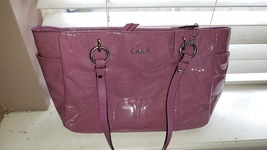 LIKE new womens coach bag 15x9x5 mauve color zipper closure - $125.00
