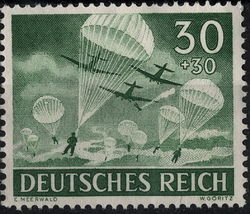 1943 Paratroopers Germany Postage Stamp Catalog Number B227 MNH