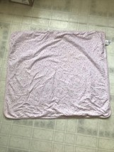 Child Of Mine Pink Floral Butterfly Cotton Knit Baby Blanket Flowers Car... - $27.85