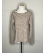 Eileen Fisher Womens Sweater Wool Pullover Crewneck Fringe Pink Sz S / P... - $49.95