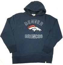 NFL Denver Broncos Hoodie Men's First Strike Hooded Pullover Fleece Sweatshirt