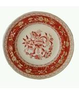 "Antique Copeland Spode 10"" Large Soup Bowl Rust Yellow & Gold c 1850-67 - $44.54"
