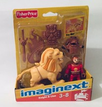 Imaginext Red Knight and Lion Castle Series Fisher-Price New - $18.80