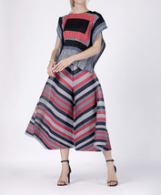 Women's Kozue 2 Stylish Print Pleat Blouse and Culottes (Premium) - $75.60+