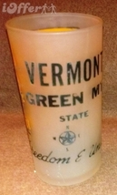 1960'S RETRO HAZEL ATLAS- FROSTED SOUVENIR VERMONT GREEN  MOUNTAIN GLASS... - $14.95