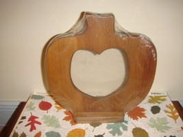 Cross Stitch Or Any Craft Wooden Stand-Up Pumpkin Frame - $17.99