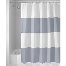 InterDesign Mildew-Free Water-Repellent Zeno Fabric Shower Curtain, 72-Inch by 7 - $16.59