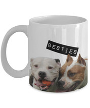 "Pit bull Mug ""Besties pit bull coffee mugs"" Great Pit Bull Gifts For A B... - $14.95"