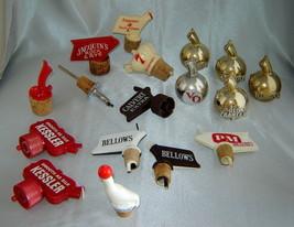 Vintage Lot (22 pieces) Whiskey Bottle Pourer Barware Spouts - Bellows, ... - $29.30