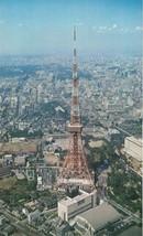 Birds Eye View of Tokyo Tower Japan Large Postcard Fukuda Card Co Not Po... - $4.99