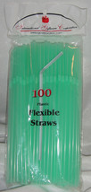 Straws - Flex / Flexible Drinking Straws - Pale Green - Wedding Receptio... - $10.56 CAD+