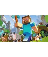 Minecraft Steve Diamond Pickaxe Wolf Creeper Edible Cake Topper Image AB... - $9.99