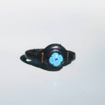 Leather ring with enamel decoration R10 - $15.00