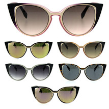 Retro Double Rim Womens Cat Eye Goth Diva Sunglasses - £9.29 GBP