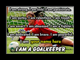 Personalized GoalKeeper Soccer Poster Daughter Confidence Wall Art Gift - $24.99+