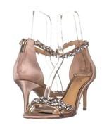 Jewel Badgley Mischka Caroline Dress Sandals 151, Champagne, 7.5 US - $40.31