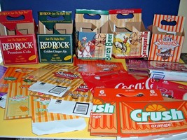 Soda Pop Bottle Cartons Lot 20+ Soft Drink Crafts Gift Arrangements Baskets - $18.69