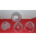 Vintage 4 Crystal Small&Large Light/Candle Globes W/Openings-Cut Crystal... - $16.99
