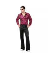 Adults Snake Skin Print Disco Shirt Halloween Costume Men's Large 42-44 Charades - $16.82