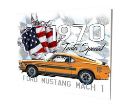 1970 Ford Mustang Twister Special Edition Design 16x20 Aluminum Wall Art - $59.35