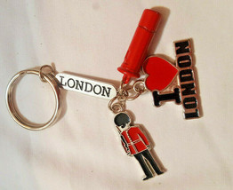 Key Ring Chain London Beefeater Royal Guard Key Ring Red Post Box I Love... - $7.59