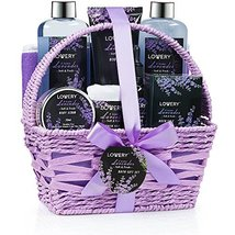 Home Spa Gift Basket, 9 Piece Bath & Body Set for Women and Men, Lavender & Jasm image 5