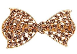 Chic Champagne Butterfly Hair Barrette Rhinestones Hair Decoration,2.31.25''