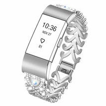 Kaleidoc Bands Compatible Fitbit Charge 2 - Metal Replacement (012-Silver) - $32.00