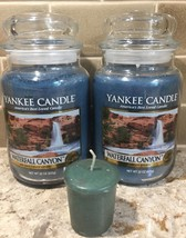 2 Two Yankee Candle 22 oz First Quality CANYON WATERFALL  + BONUS VOTIVE... - $49.04