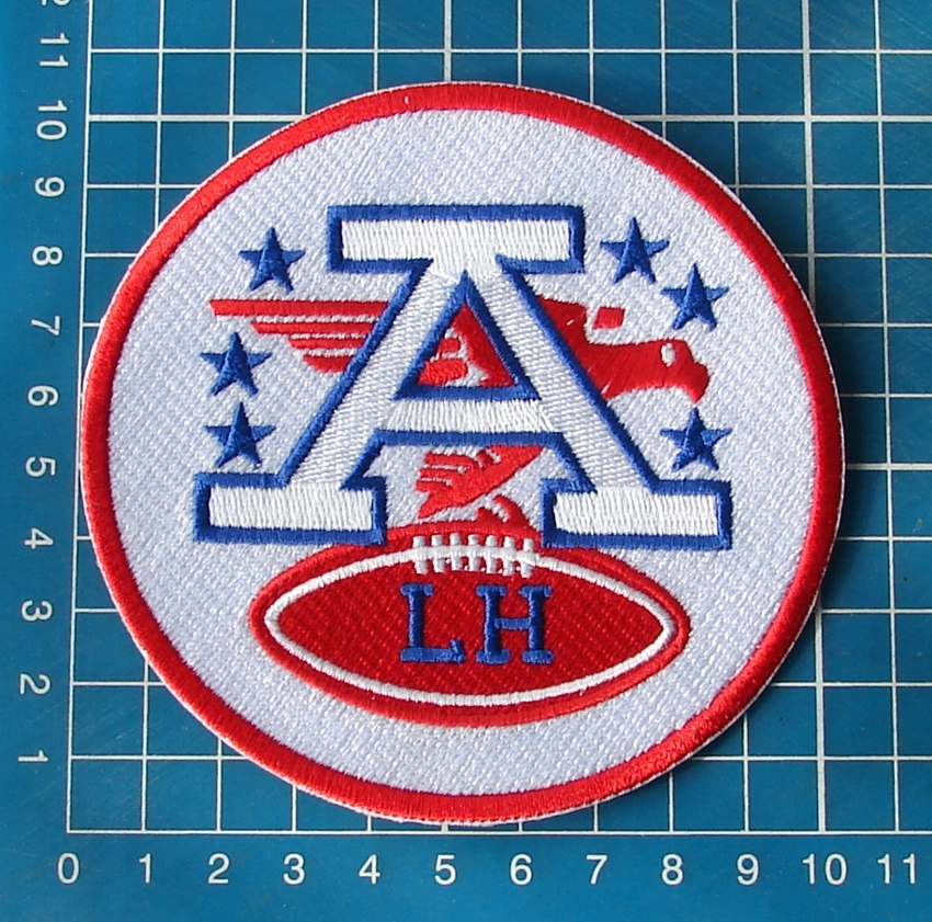 "Primary image for LAMAR HUNT KANSAS CITY CHIEFS NFL FOOTBALL AFC LH LOGO MEMORIAL 4"" JERSEY PATCH"