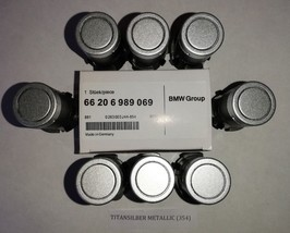 NEW! 8-Pcs. PDC Parking sensor BMW 6989069 E60,E65,X5 TITAN SILVER METAL... - $172.98