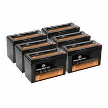 6PK Chrome Battery 12v 8AH Replaces UB1280 -APC Back-UPS ES550VA Pro 1300/1500 - $81.35