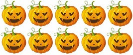 x10 30mm Shaped Vinyl Stickers pumpkin halloween horror retro jack o lan... - $5.87